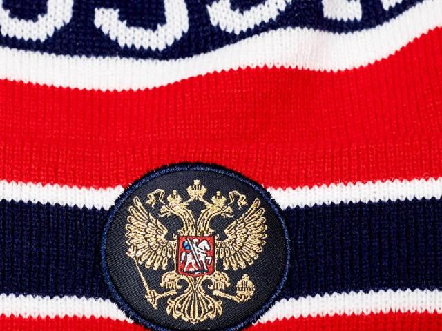 Шапка Россия с вышивкой, арт.11312