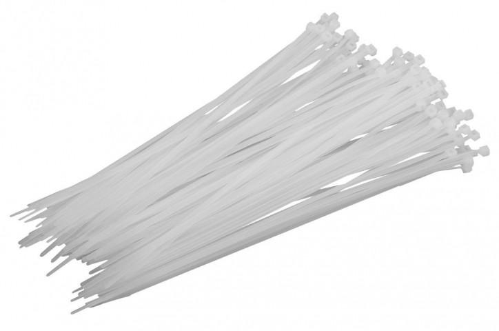 Стяжки нейлоновые IEK 2,5х100 (белые, 100 шт)