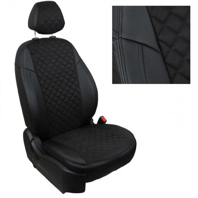 Чехлы Автопилот Nissan X-Trail (2007>) T31 - черные, алькантара, ромб