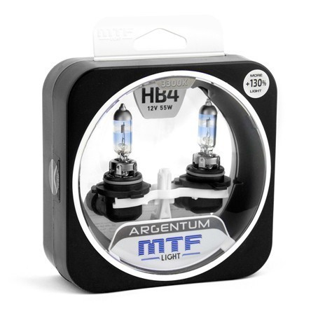 Лампы MTF Argentum +130% HB4 9006 (12 V, 55 W, 2 шт)