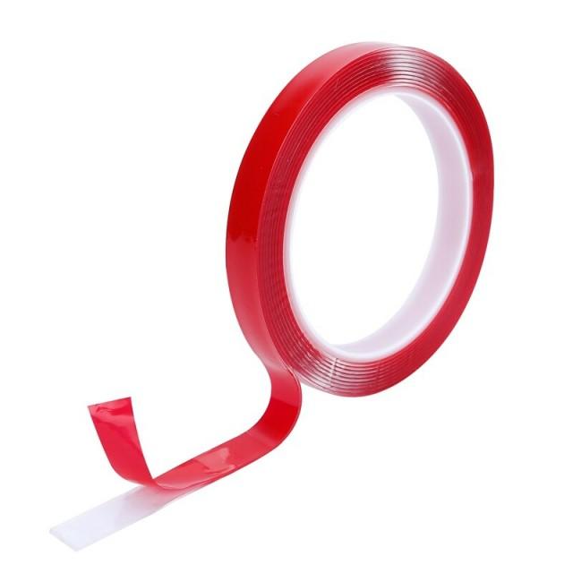 Скотч двусторонний силиконовый 6 х 2 м (прозрачный)