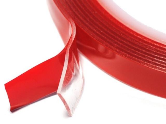 Скотч двусторонний силиконовый 2 м x 4 мм (прозрачный)