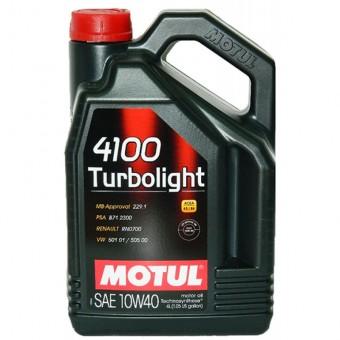 Масло моторное Motul 4100 Turbolight 10W40 (4 л)