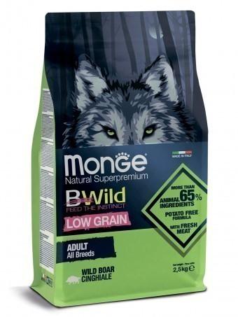 Сухой корм для собак Monge BWild Low Grain - Boar (2,5 кг)