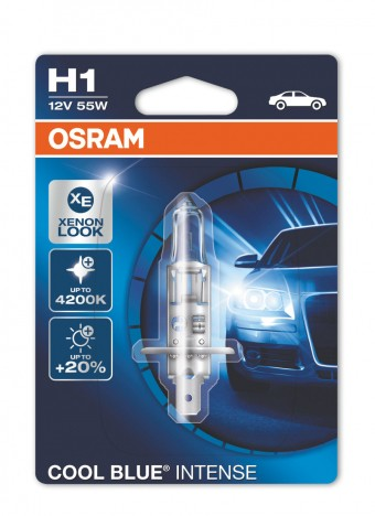 Лампа Osram H1 Cool Blue Intense (12 В, 55 Вт, блистер)