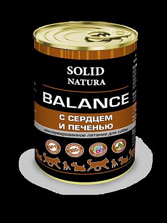 Консервы для собак Solid Natura Balance, сердце и печень (340 г)