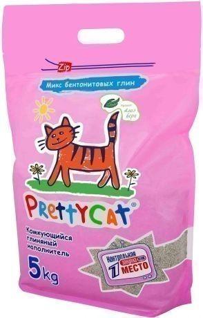 Наполнитель кошачьего туалета Pretty Cat Euro Mix Aroma (глиняный, 5,0 кг, алоэ)