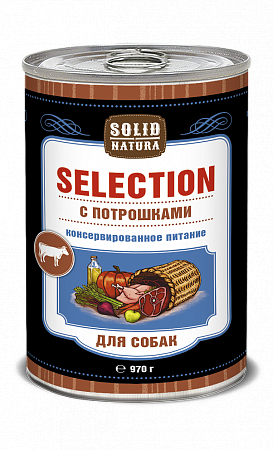 Консервы для собак Solid Natura Selection, потрошки (970 г)