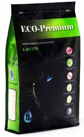 Наполнитель кошачьего туалета ECO Premium Green (древесный, 1,9 кг, 5 л, без запаха)