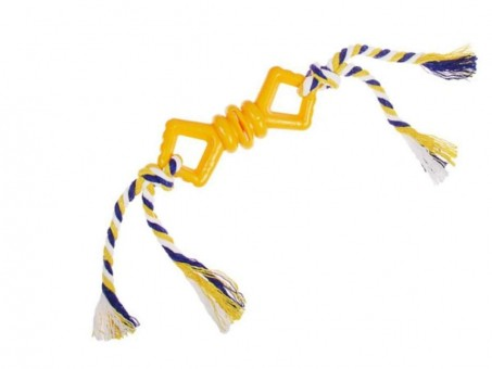 Игрушка Пижон Бантик с веревочкой (желтая, размер S, 10 см)