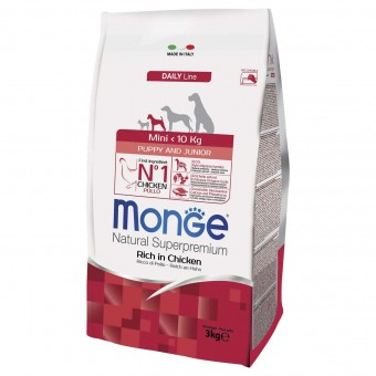 Сухой корм для щенков Monge Daily Line - Mini Puppy & Junior (3 кг)