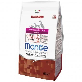 Сухой корм для собак Monge Specialty Line - Extra Small Adult Lamb (0,8 кг)