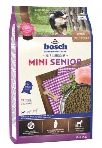 Сухой корм для собак Bosch Mini Senior, 2,5 кг