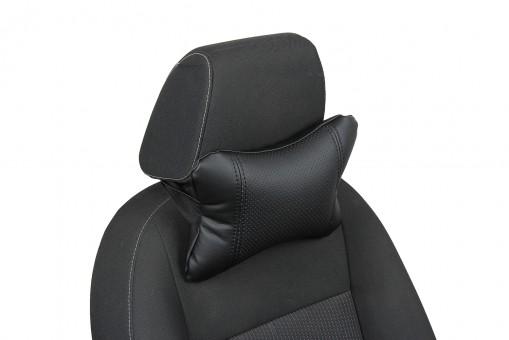 Подушка-косточка Автопилот Экокожа (черная)