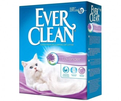 Наполнитель кошачьего туалета Ever Clean Lavender (бентонит, 10 кг, 10 л, лаванда)
