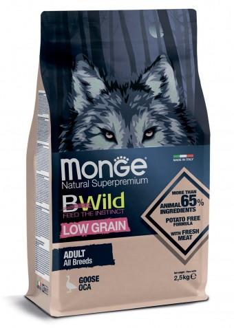 Сухой корм для собак Monge BWild Low Grain - Goose (2,5 кг)