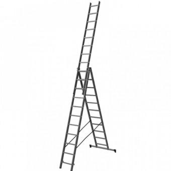 Лестница алюминиевая трёхсекционная Вихрь ЛА 3х12 Лайт