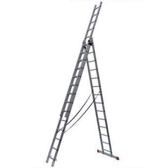 Лестница алюминиевая трёхсекционная Вихрь ЛА 3х14