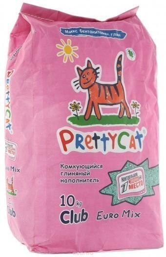Наполнитель кошачьего туалета Pretty Cat Euro Mix (глиняный, 10,0 кг, без запаха)