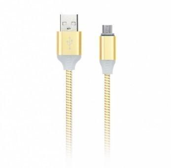 Кабель зарядки Smartbuy 12 Illuminate, USB - MicroUSB (2 А, 1 м, золотой)
