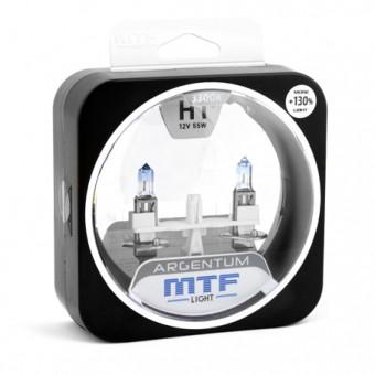 Лампы MTF Argentum +130% H1 (12 V, 55 W, 2 шт)