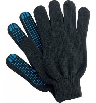 Перчатки рабочие (х/б, черные, 10 класс)