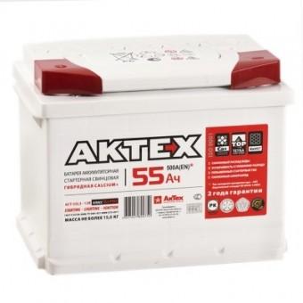 Аккумулятор Актех 6CT55L 55 А/ч п.п. ток 500  242 х 175 х 190