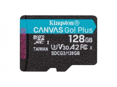 Карта памяти microSD Kingston Canvas Go! Plus 128 Gb (class 10, U3)