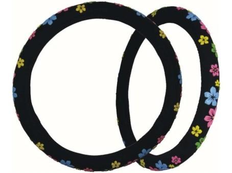 Оплетка руля PSV Flower (черная)