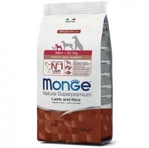 Сухой корм для щенков Monge Specialty Line - Mini Puppy & Junior Lamb (2,5 кг)