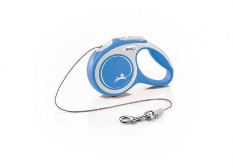 Рулетка Flexi Comfort New XS, трос, 3 м, серо-синий