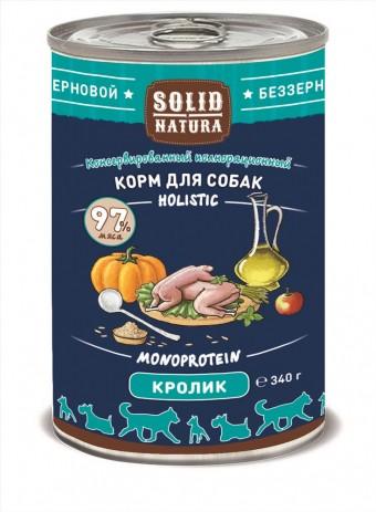 Консервы для собак Solid Natura Holistic, кролик (340 г)