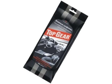 Салфетки влажные TopGear для салона (30 шт)