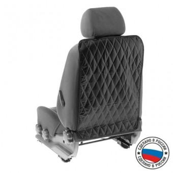 Защитная накидка на спинку сиденья Torso (ромб, черная, 65х43 см)