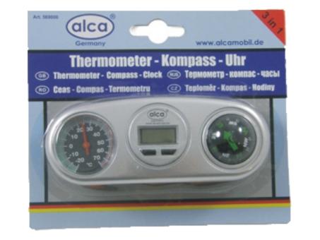 Термометр с часами и компасом Alca 569000