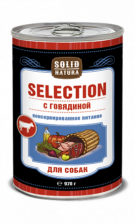 Консервы для собак Solid Natura Selection, говядина (970 г)