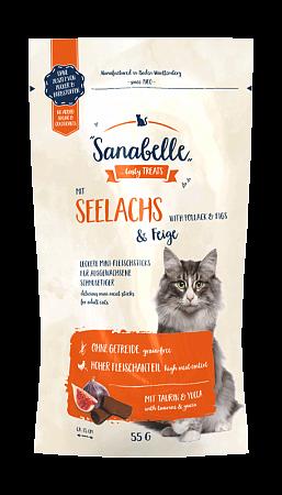 Лакомство для кошек Sanabelle Snack, сайда и инжир (55 г)