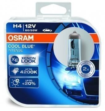 Лампы Osram H4 Cool Blue Intense (12 В, 55/60 Вт, блистер, 2 шт)
