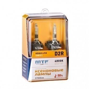 Ксеноновые лампы MTF Absolute Vision D2R 4800K (+50%, 2 шт)
