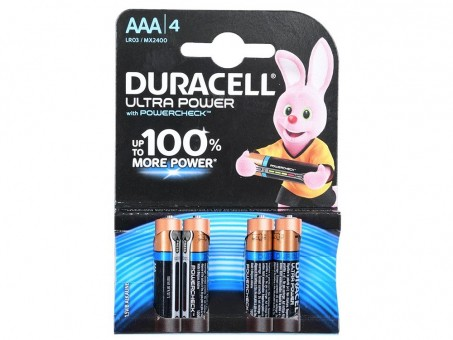 Батарейки AAA (LR03) Duracell Ultra Power (блистер, 4 шт)