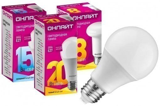 Светодиодные лампы E27 Онлайт