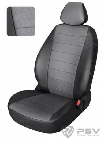 """Чехлы Chevrolet Aveo I 2003-2011 г. / Ravon Nexia R3 2015-> Sd черно-т.серый аригон """"Автопилот"""""""