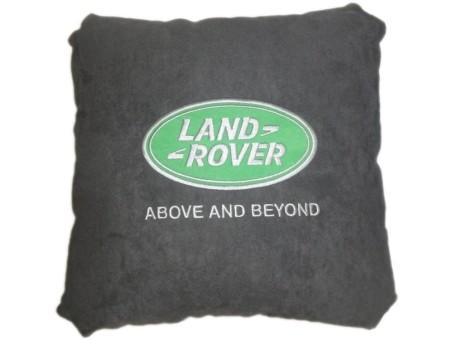 Подушка замшевая Land Rover (А101 - серая)