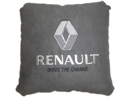 Подушка замшевая Renault (А101 - серая)