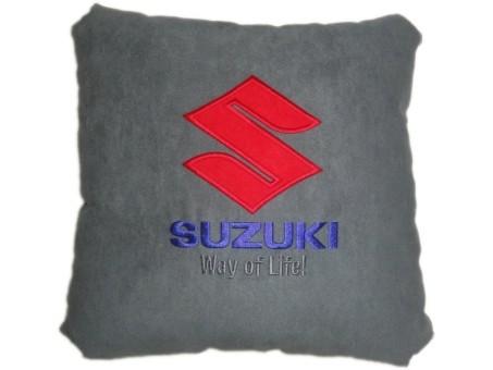 Подушка замшевая Suzuki (А101 - серая)