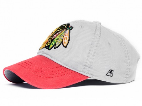 Бейсболка NHL Chicago Blackhawks, серо, р.55-58, арт.29060