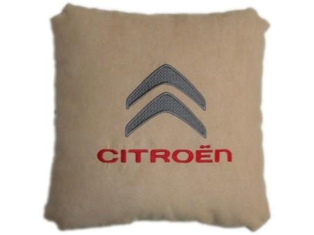 Подушка замшевая Citroen (А03 - бежевая)