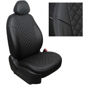 Чехлы Автопилот Hyundai Santa Fe III (2012>) - черные, ромб