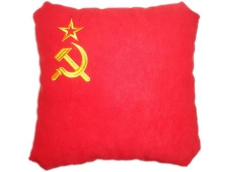 Подушка замшевая Флаг СССР
