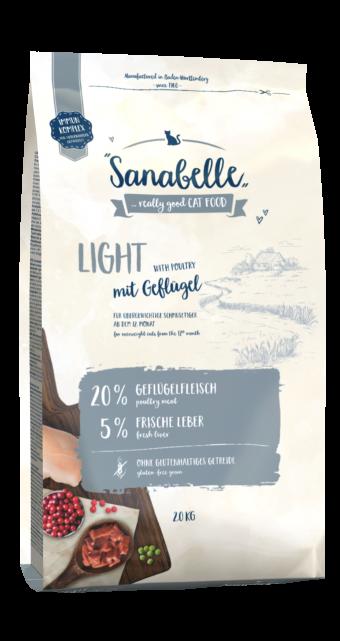 Сухой корм для кошек Sanabelle Light NEW, 2 кг